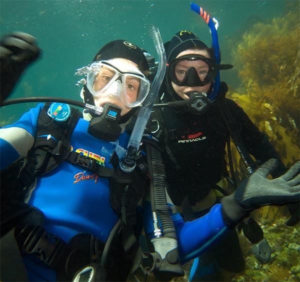 Josh and Mom off Catalina