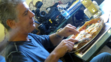 Anthony Bourdain No Reservations Pizza Eater