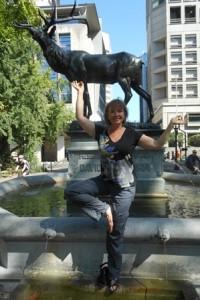 Portland, Oregon fountain.