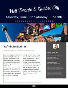 Toronto to Quebec City Tour Cover