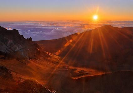 Sure jet lag cure – The Haleakela dawn stop over