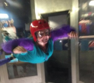 Elaine flying