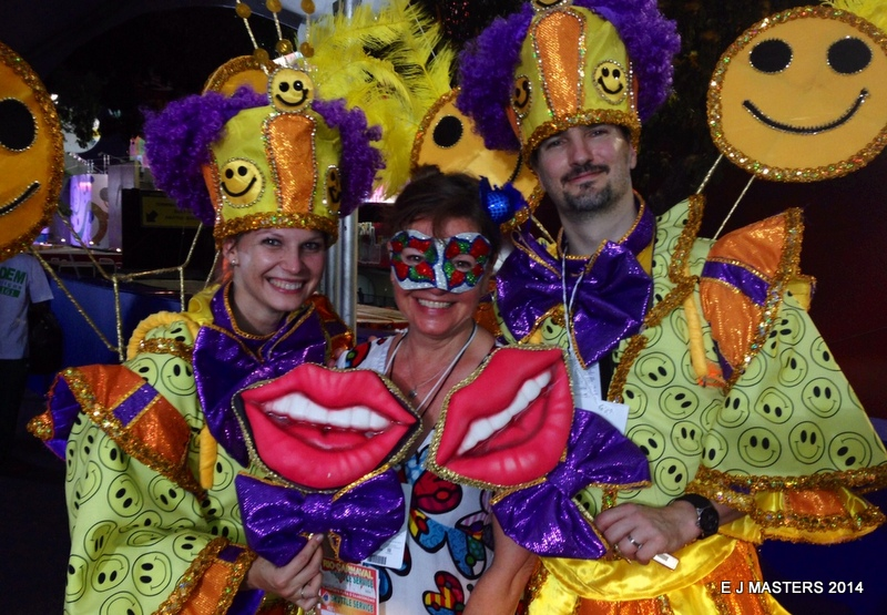 Croatian dancers and Elaine ending our Carnival in Rio, trip wellness