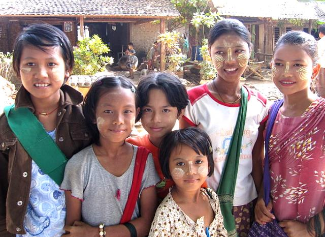 Wagaung picture of Thanaka kids