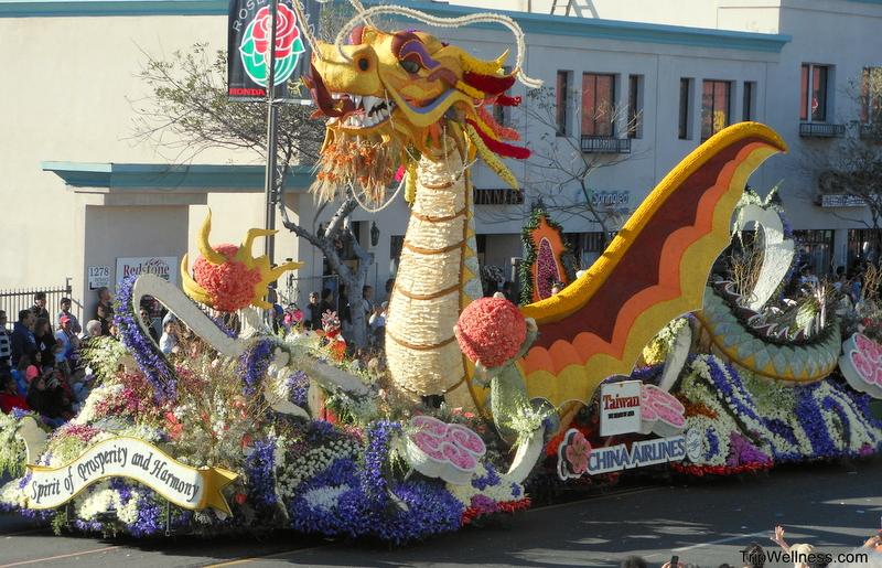 Rose Parade Float, Visiting the Rose Parade, trip wellness