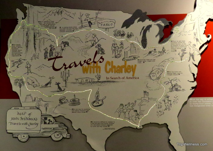 John Steinbeck, Travels with Charley, trip welless