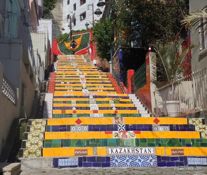 Seleron stairs, trip wellness, rio de janeiro