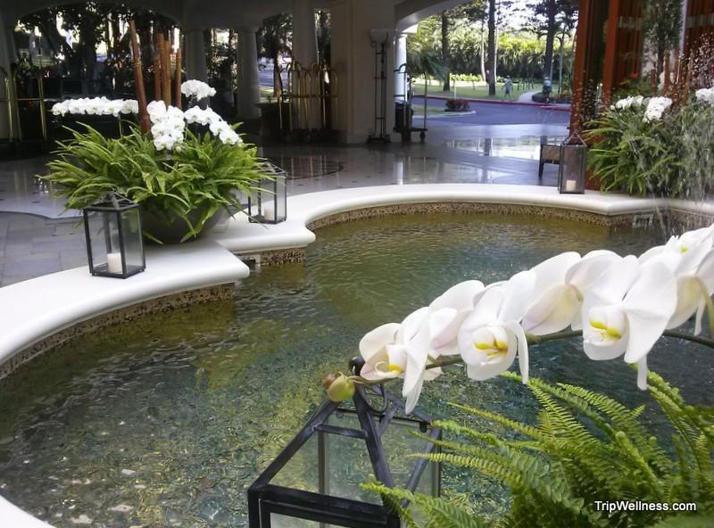 Fairmont Kea Lani, lobby fountain, trip wellness