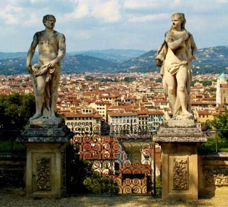 Florence statues Elisa Savignano