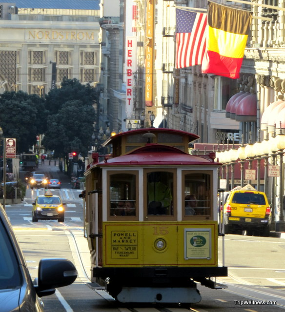 Cable Car, walking San Francisco, trip wellness