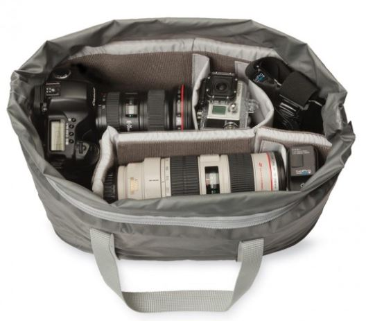 Lowepro duffel inside bag.
