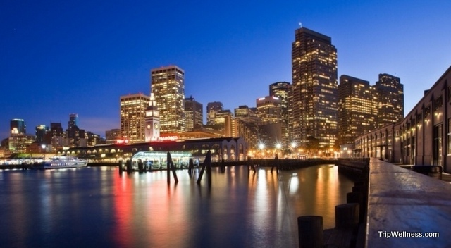 Nighttime San Francisco, trip wellness