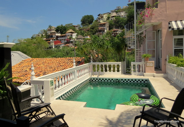 Rooftop pool at the Rio de Rivera. Boutique hotels in Puerto Vallarta. Trip wellness
