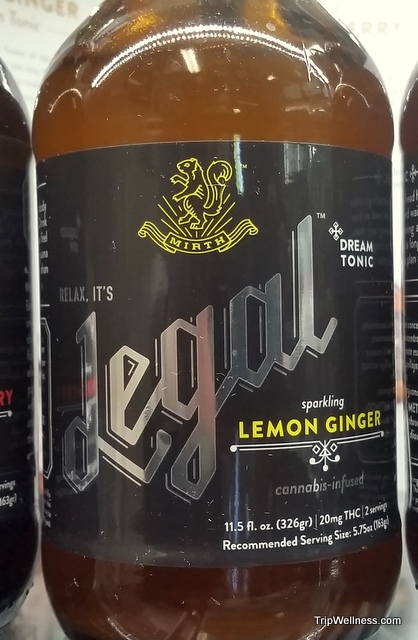 Lemon ginger canibis drink