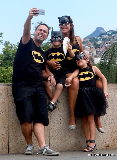 Family selfie at Brazil Carnival, avoiding crowds, tripwellness