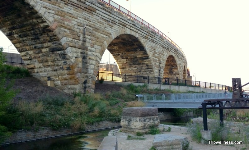Riverfront trail near Stone Arches Bridge