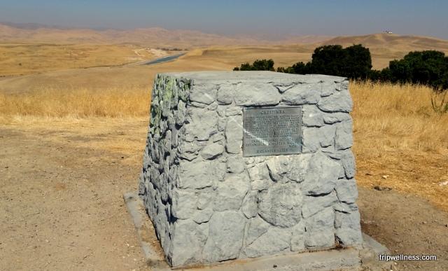 The historic spot, Orestimba marker.