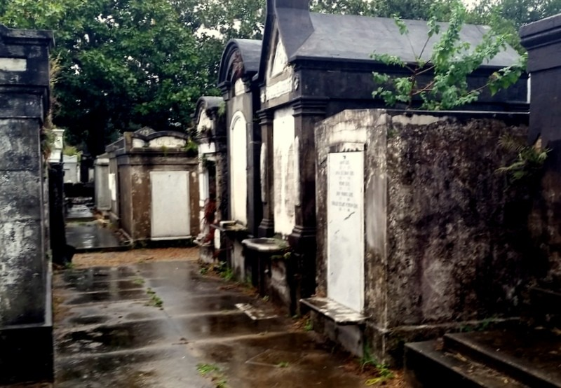 Step through time in the passageways of New Orleans cemetery, Lafayette No. 1