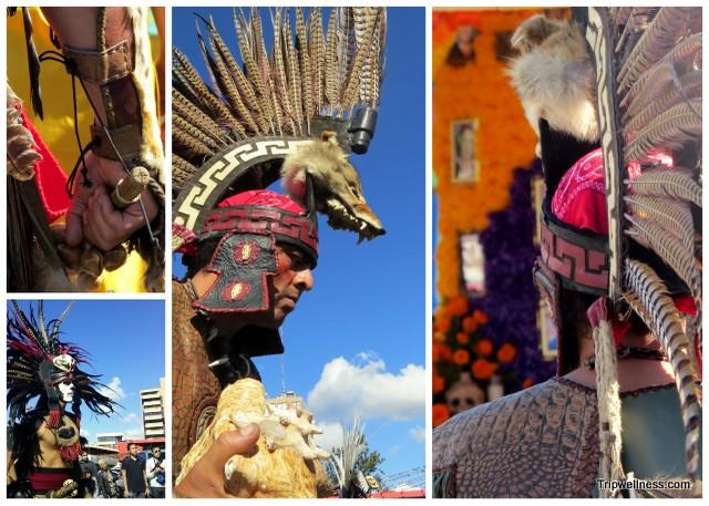 Aztec Dancers inside Mercado Hidalgo