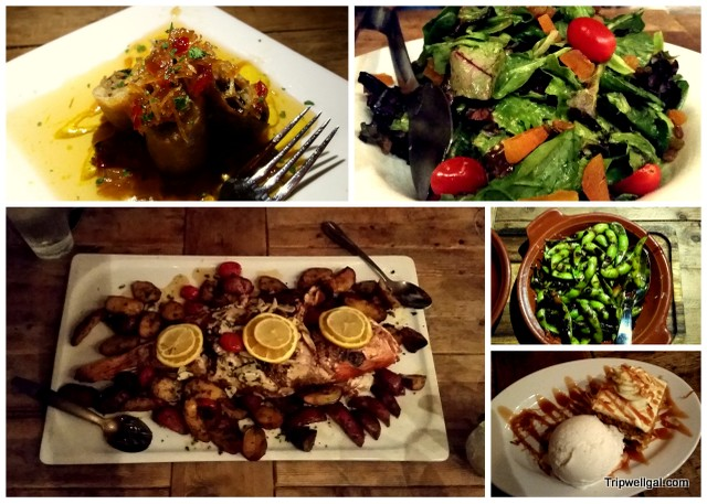 A few plates from our dinner at Beauty and the Feast, Atlantic Hotel, Fort Lauderdale