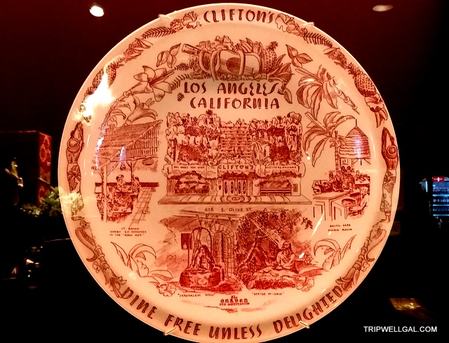 Memorial plate from the original Clifton's Cafeteria