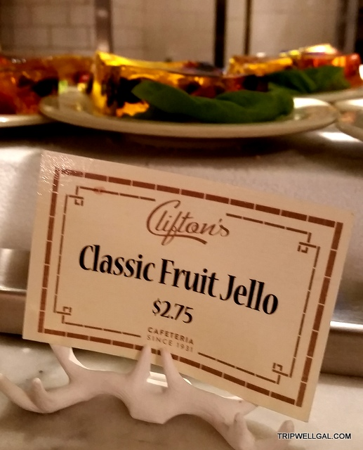 Jello at Clifton's Cafeteria