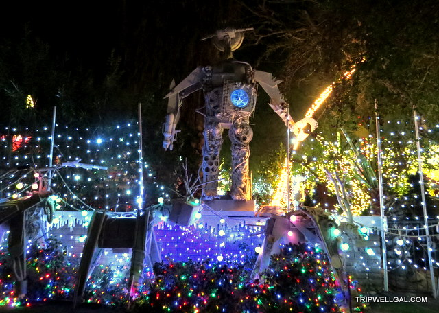 robolights giant is part of the holiday lights display in Palm Springs.