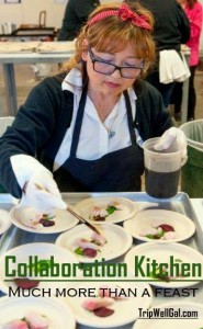 Keiko preps at Collaboration Kitchen