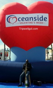Oceanside heart balloon is part of a California beach adventure