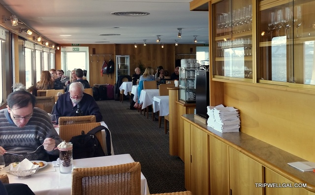The first class restaurant on the Lake Lucerne cruise.