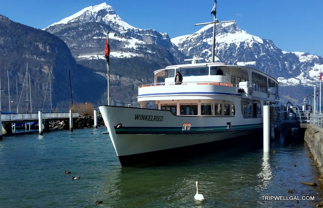 Take a Swiss boat trip on this Lake Lucerne ship