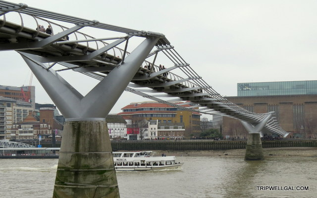 Millennial Bridge is a fun place to visit in London