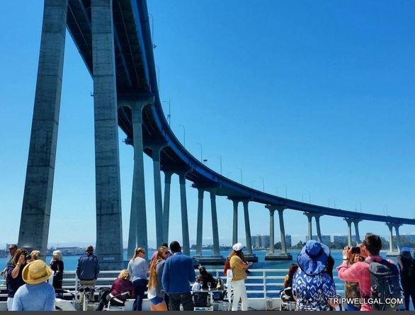 The Coronado Bridge from our Sunday Brunch cruise