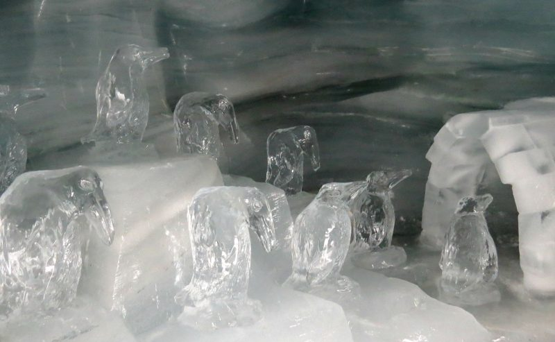 Ice sculptures inside the Jungfrauroc ice cave