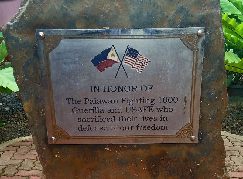 Plaque in the war museum