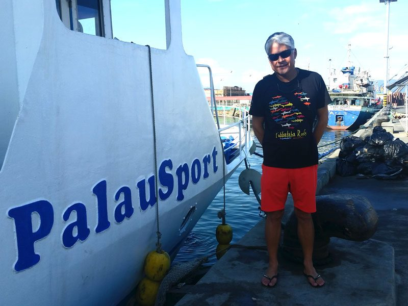 Owner of the Palau Sport, David Choy, brings the boat to Sula for a few months each year.
