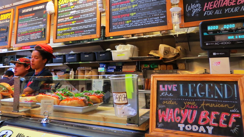 Dinner counter inside the Bi-Rite Market