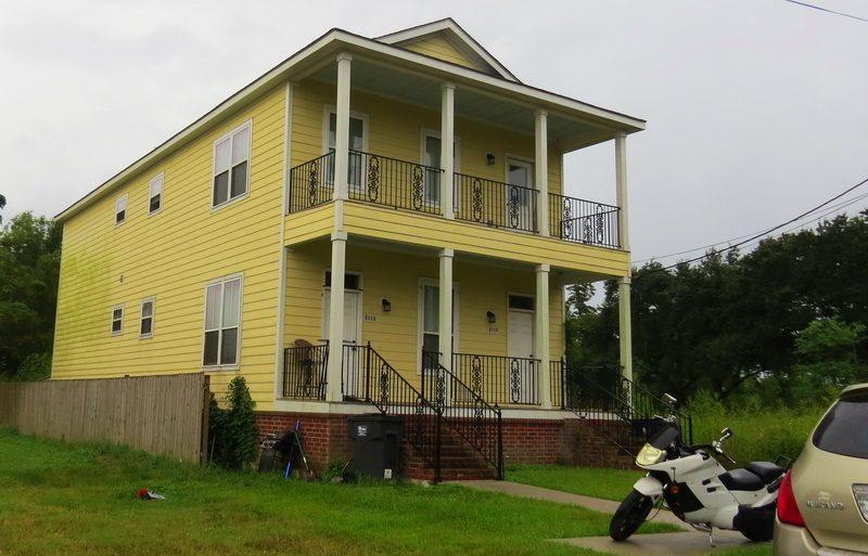 New home, post Hurricane Katrina, living space still built below the flood line.
