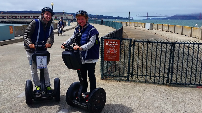 Riding a Segway in San Francisco with the Electric Tour Company is fun for the family