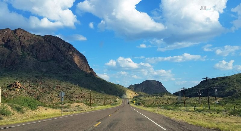 Road view between Balmorea and Fort Davis