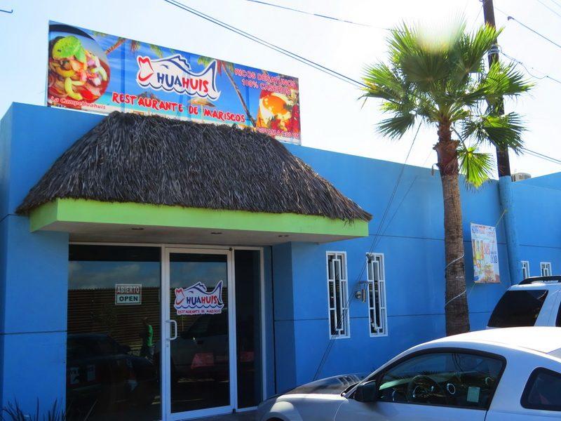The modest storefront of Hua Huis Restaurane de Mariscos