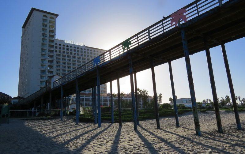 The beach and tower Rosarita Hotel