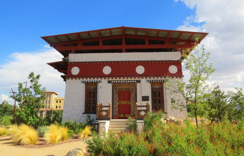Bhutanese Temple in the center of University of Texas El Paso