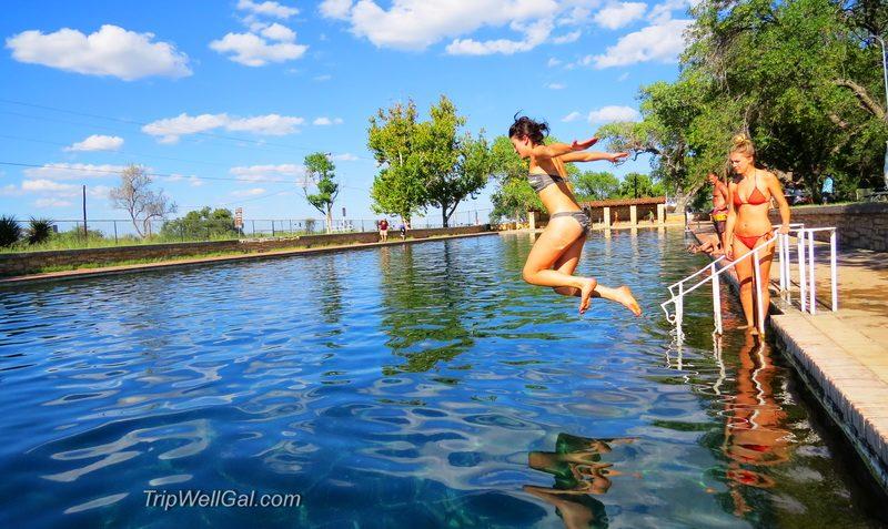Enjoying the Balmorea Pool