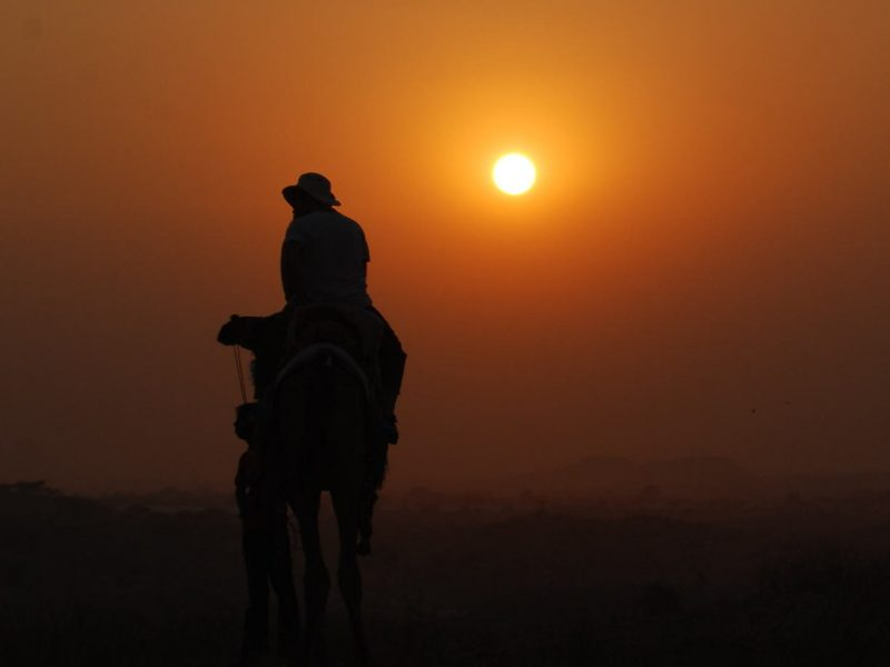 Pushkar rider enjoying safe travels in India