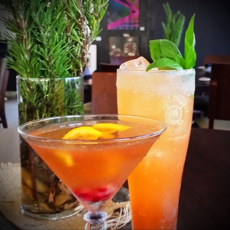 pomegranate and blood orange cocktails
