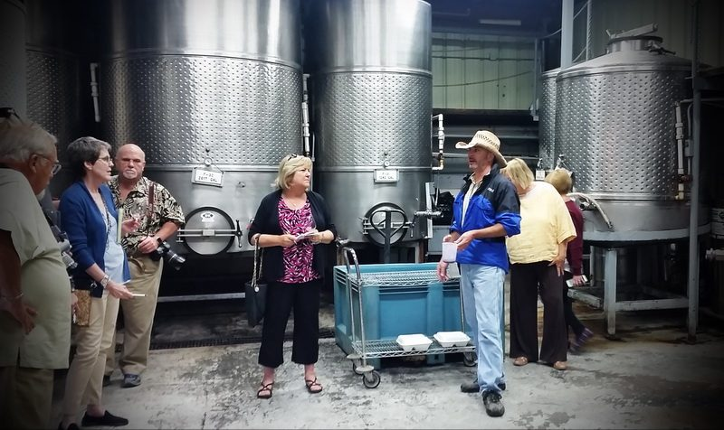 Wine maker, James Rutherford, in Mount Palomar cask room at Mount Palomar one of many award winning Temecula Wineries.