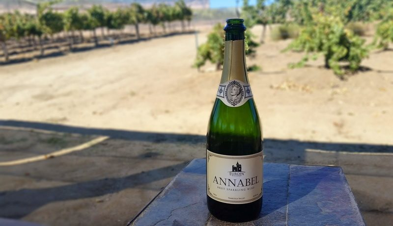 Anabel Brut is a sparkling vintage at Europa Village amongst the Temecula wineries