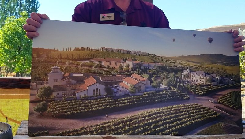 The planned Europa Village Spainish, Italian and French-inspired wineries