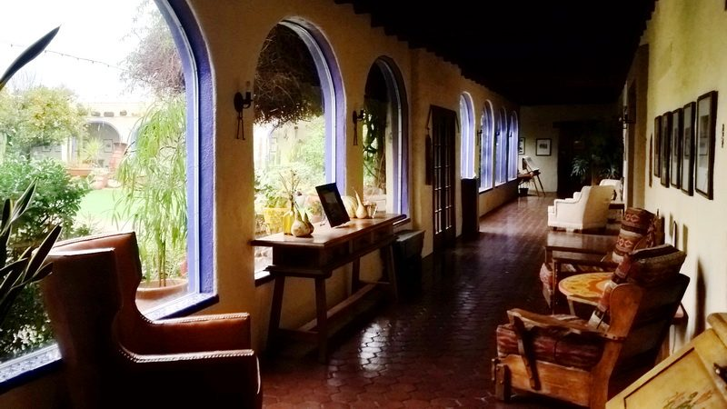 A view of the main hall in the original school wing at the Hacienda del Sol